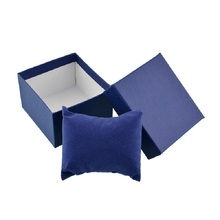Classic Blue Wrist Watch Bangle Bracelets Paper Cardboard Storage Winder Display Box Case Convenience High Quality Brand New