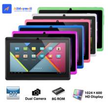 Alldaymall Tablet PC 7 inch A88X Allwinner Android 4.4 Quad Core Dual Cameras External 3G/Wifi 8GB ROM1024x600 HD display