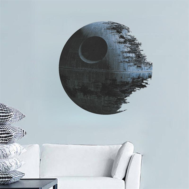 movies star wars death star vinyl art wall stickers decals home decor removable kids nursery. Black Bedroom Furniture Sets. Home Design Ideas