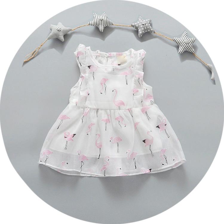 2016 Summer Baby Girl Clothes Cotton&Voile Princess Bow