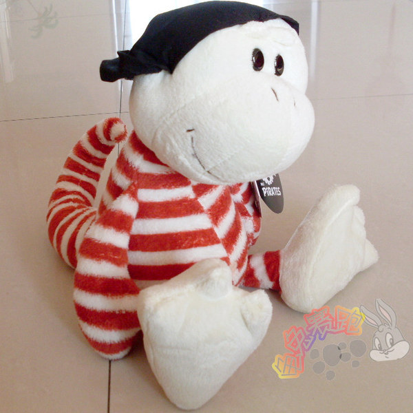 Discount Hot Sale Nici Pirate plush toy Gecko children birthday gift 1pc(China (Mainland))