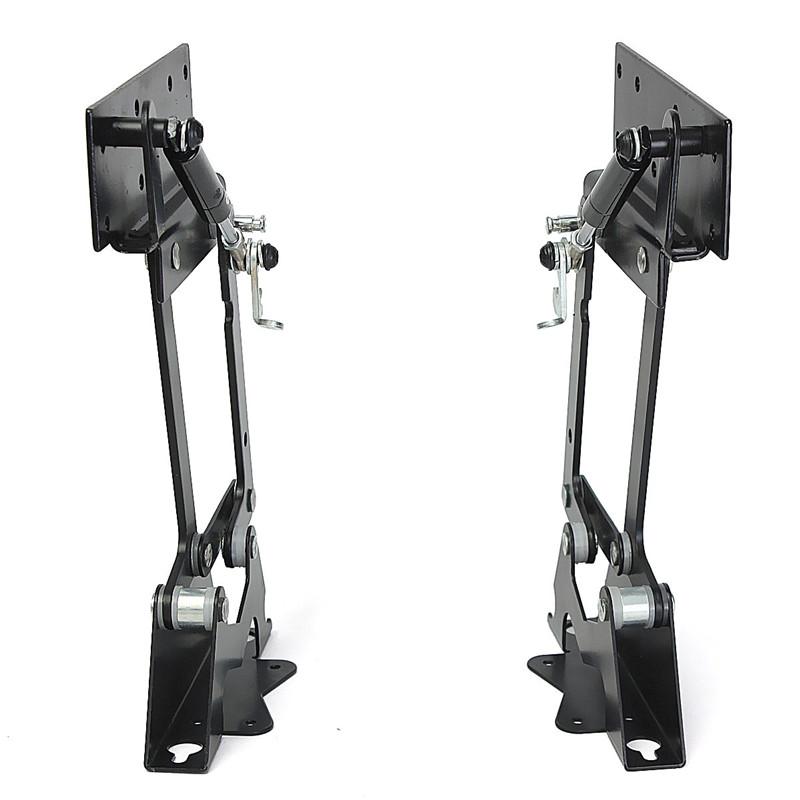 Best Promotion Black Lift Up Top Folding Table Hardware Fitting Furniture Mechanism Hinge Spring Black 180x190x164mm(China (Mainland))