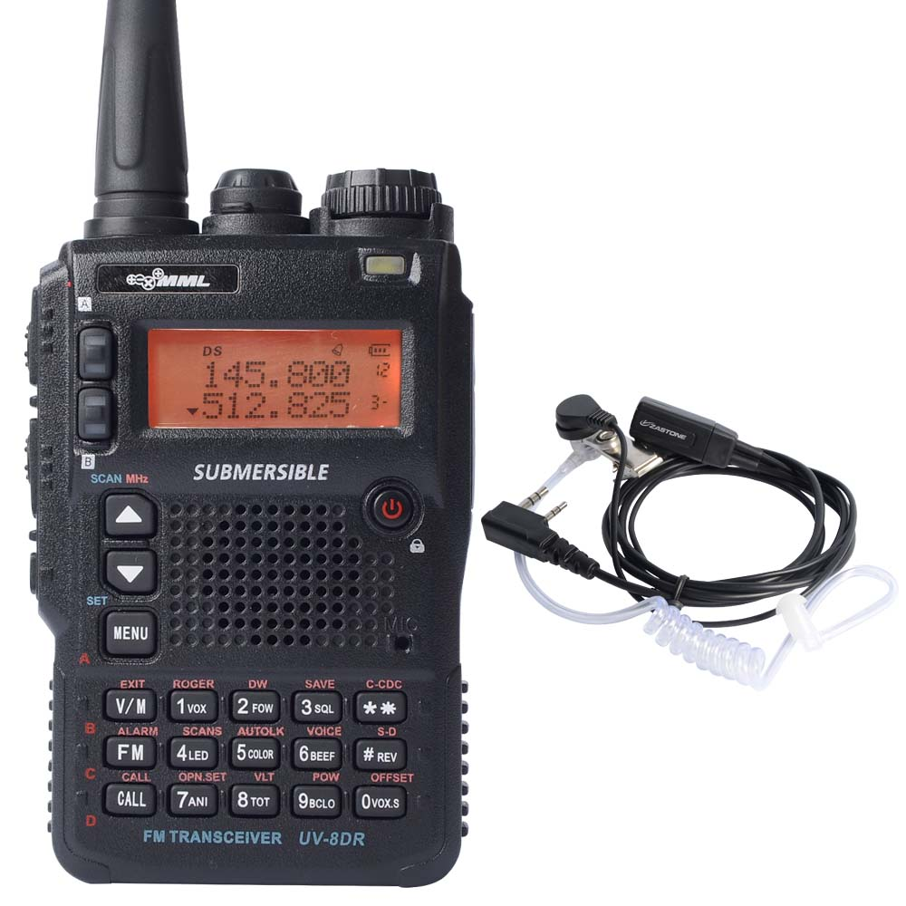 UV-8DR Tri-Band Walkie Talkie 136-174/240-260/400-520mhz transceiver ham radio Sister Yaesu With Free Earphone(China (Mainland))