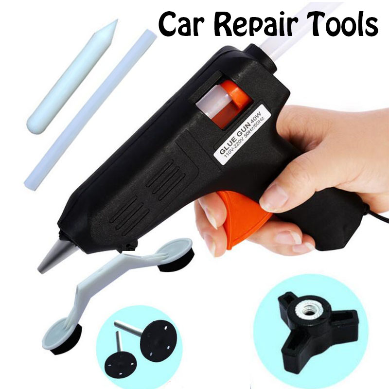 Hot Sale 8 pcs Auto Car Repair Tool Car Dent Ding Damage Repair Removal DIY Hand Tool For Vehicle Auto Automobile Glue Gun Paint(China (Mainland))