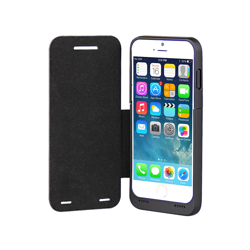 Slim Fit Slider Design Full Body Protection On/off Switch Kickstand LED Battery Level Indicator Battery Backup Case For Iphone 6(China (Mainland))