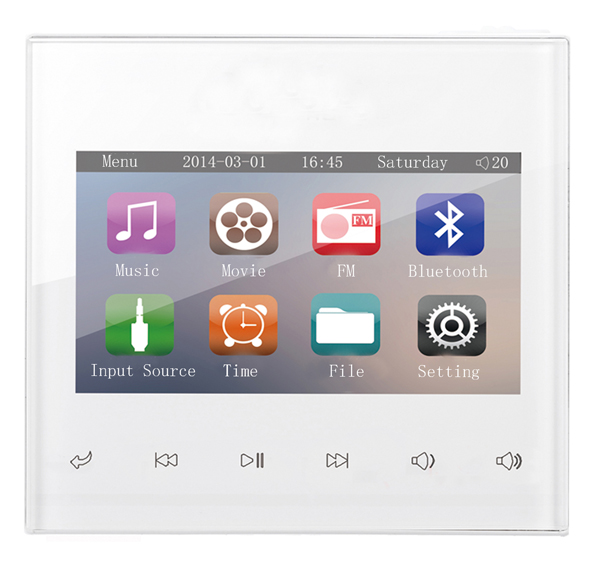 Home Audio video system200,music system,Ceiling Speaker system,Bluetooth digital stereo amplifier,touch screen in wall amplifier(China (Mainland))