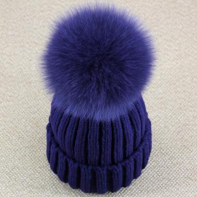 Real Fox Fur Pom Pom Women Beanie Hat Mink Fur Hat With Pompom Ball Real Raccoon Fur Pompon Knit Bobble Hat Couple Ski Cap(China (Mainland))