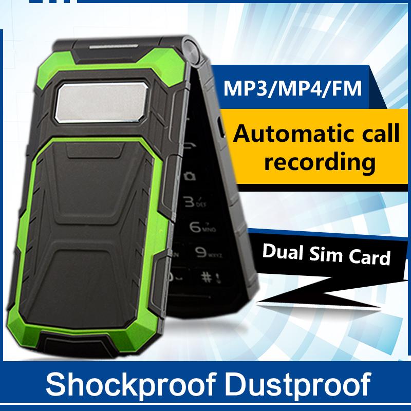 "2.5"" inch Shockproof Dustproof Dual Sim FM bluetooth tachograph camera Automatic call recording Mobile Phone P211(China (Mainland))"