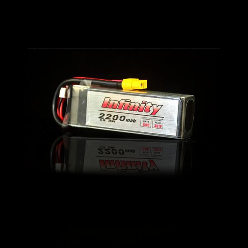 Best Deal For Infinity 3S 11.1V 2200mAh 60C 3S1P Graphene LiPo Battery XT60 Support 15C Boosting Charge For Racer Multicopter(China (Mainland))