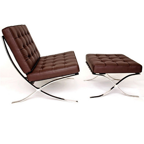 German Masters of the most classic sofa barcelona chair Barcelona chair Lorna \ brown PU leather sofas(China (Mainland))