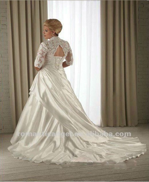wedding dresses plus size designer with