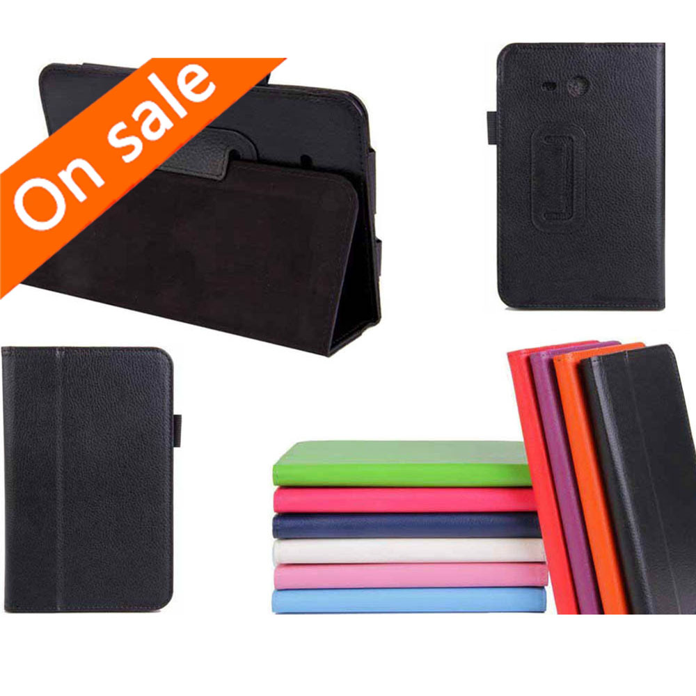 Slim PU Leather Folio Case Stand Cover Samsung Galaxy Tab 3 Lite 7 inch 7.0 SM-T110 T111 T110 - Shenzhen Hikit Technology Co., Ltd. store