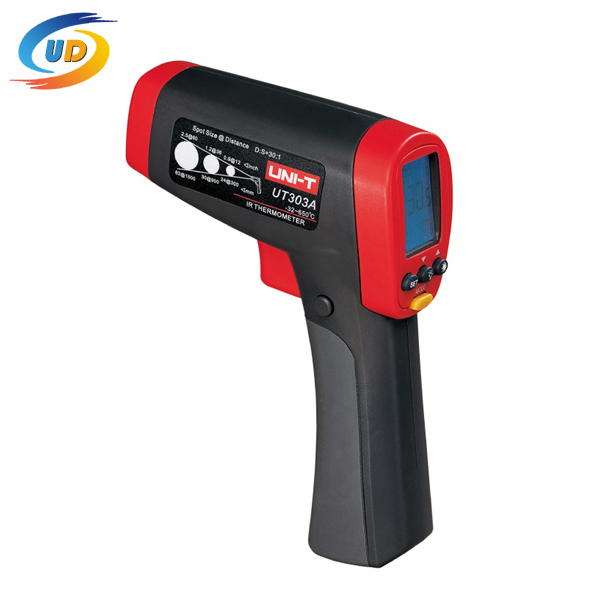 Handheld Infrared Thermometers UNI-T UT303A Industrial Temperature Gauge Non-contract Digital IR Thermometer Gun -32 - 650(China (Mainland))