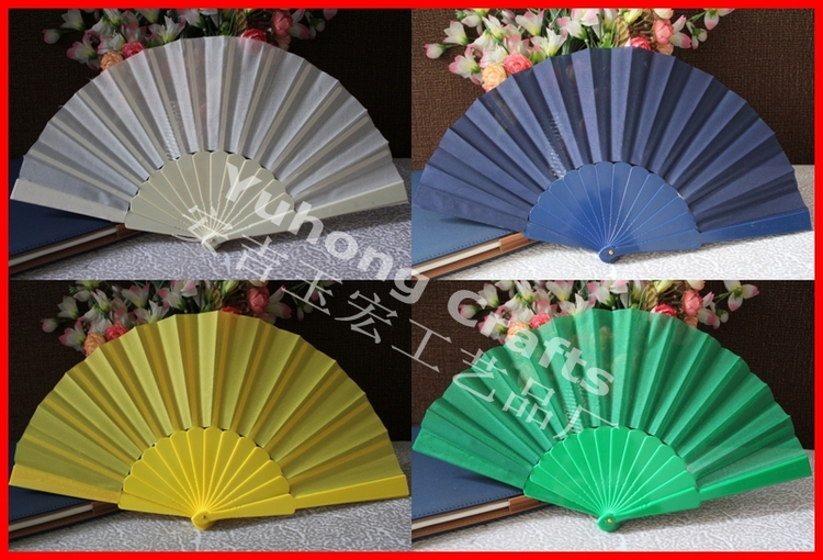 Free shipping 50pcs/lot assorted colors plastic promotion fan(China (Mainland))