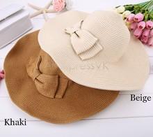 High Quality!!!Summer Hats for Women Fashion Women's Sun Foldable Straw Hats Beach Headwear 2 Colors 30(China (Mainland))