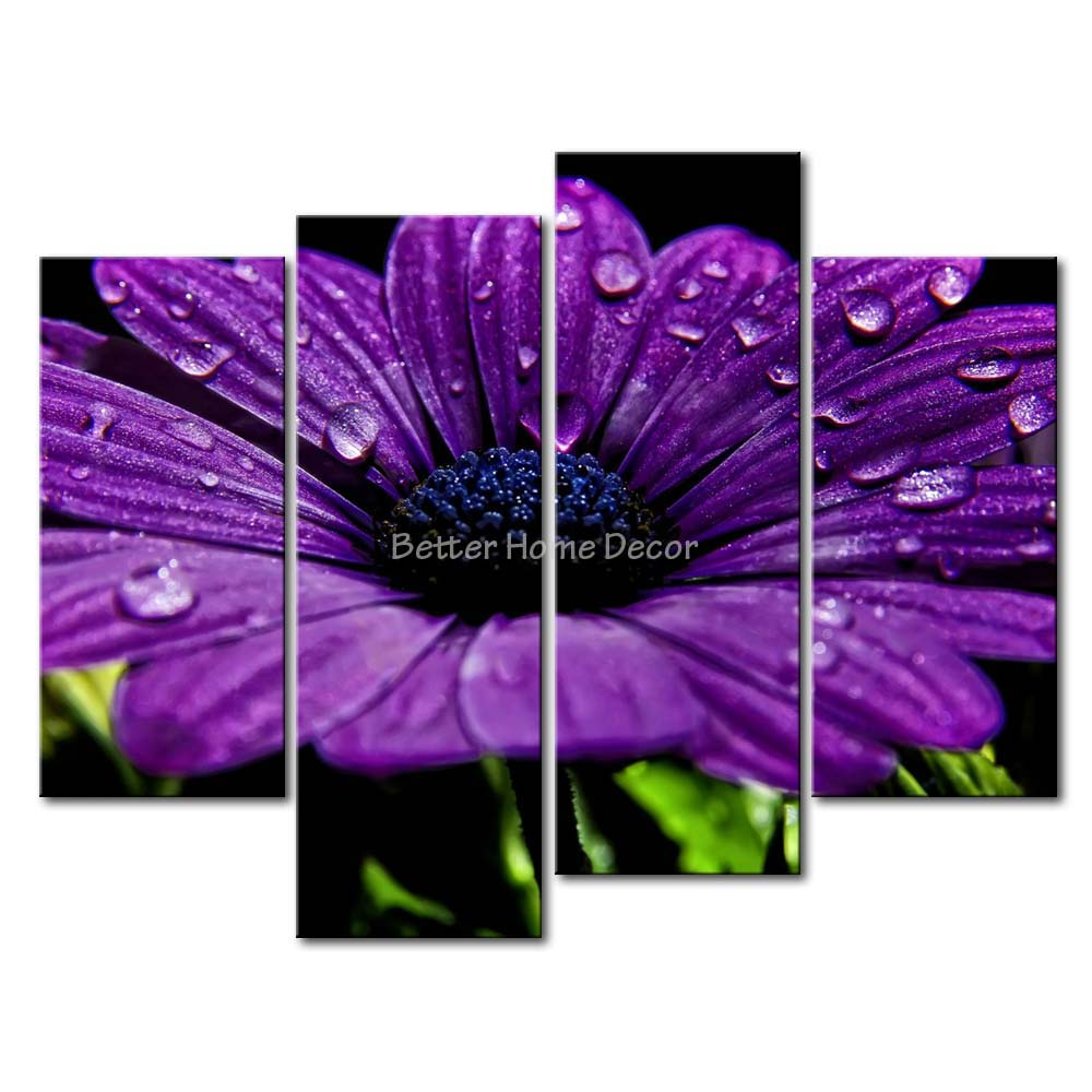 Buy 3 Piece Purple Wall Art Painting