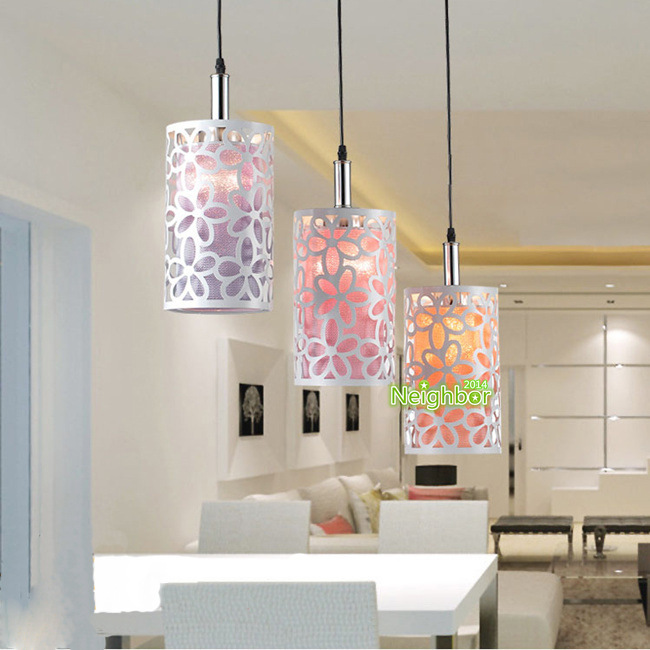 Modern Hollow flower Pendant Lights Suspension lamp ...