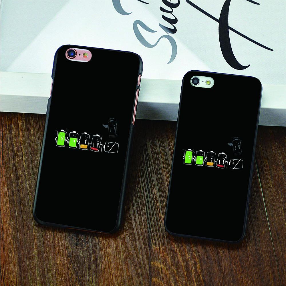 Full battery emply battery hard black skin Case for iPhone 4 4s 5 5s 5c 6 6s 6 Plus 6s Plus cover shell(China (Mainland))