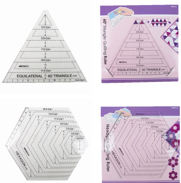 American Patchwork ruler,template drawing Patchwork tools,Polygon plastic ruler,DIY quilting rulers(China (Mainland))