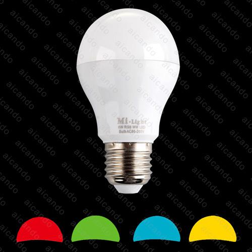 2 4g 6w rgb warm white led light bulb lamp e27 mi light. Black Bedroom Furniture Sets. Home Design Ideas
