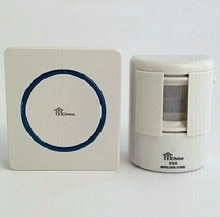 Wireless a raggi infrarossi benvenuto campanello di alta sensibile impermeabile elettronica del sensore di movimento di sicurezza allarme del rilevatore di trasporto(China (Mainland))