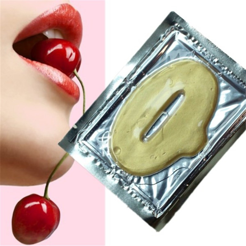 Beauty 5pcs Lip Care Crystal Gold Collagen Lip Care Mask Moisturizing Essence Repair Remove Lines Fuller Lip New Arrival Tools