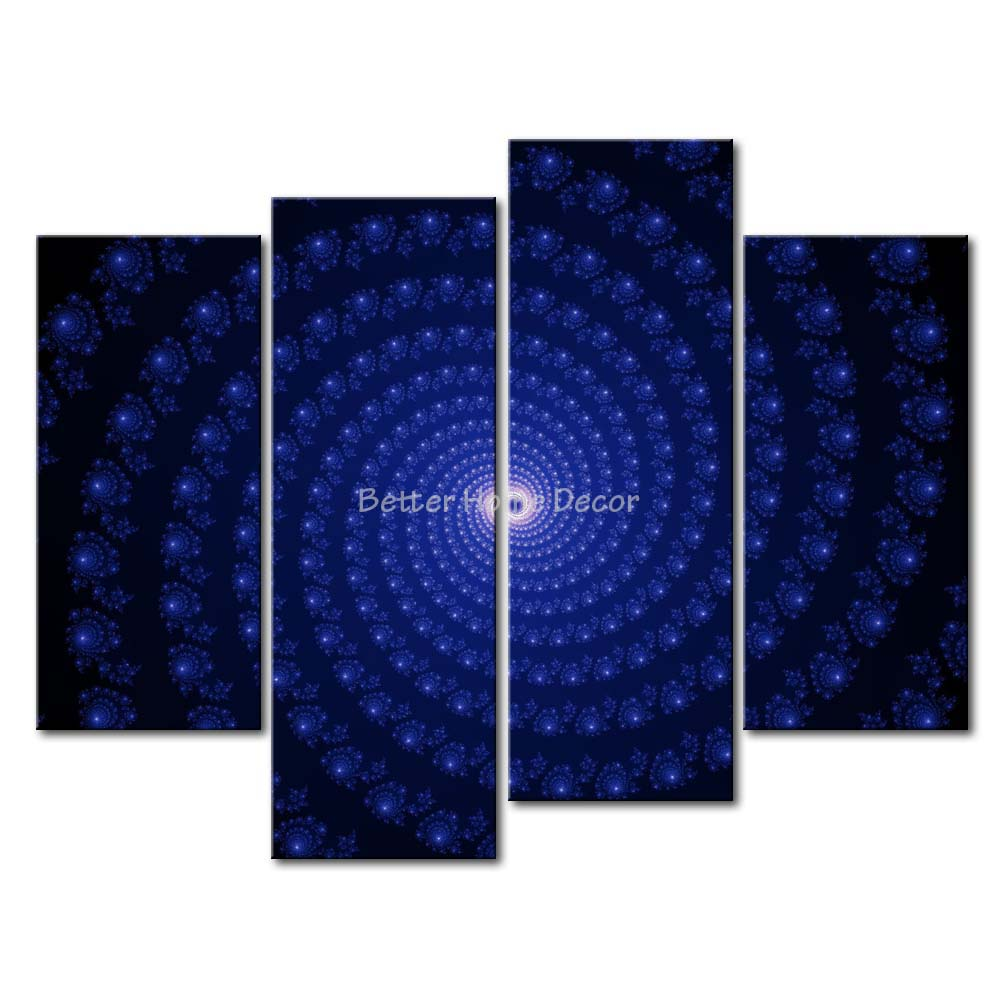 Blue Star Wall Decor : Aliexpress buy piece wall art painting blue star