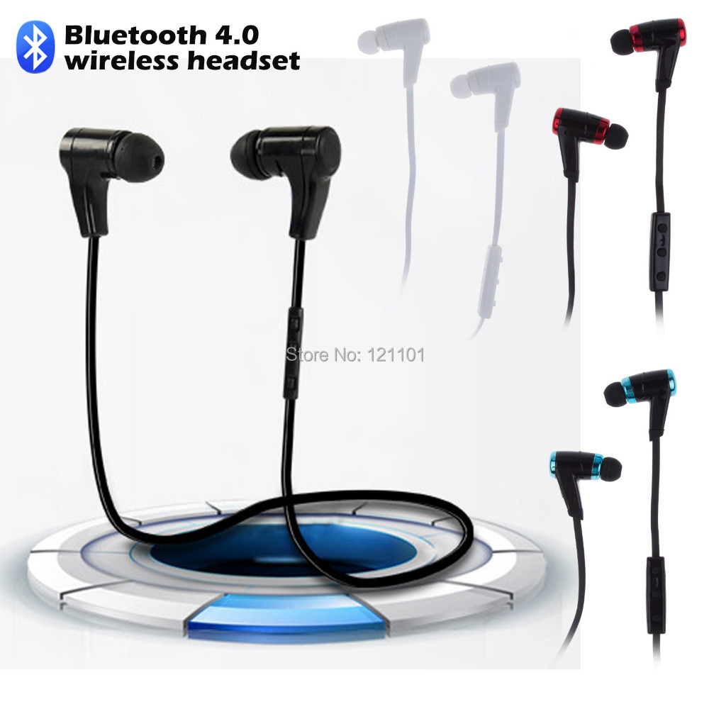 2015 New Sports Wireless Bluetooth 4.0 Stereo Earphone Fashion Sport Running Headphone Studio Music Headset with Microphone(China (Mainland))