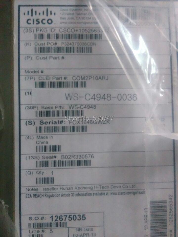New original Cisco WS-C4948 48 x 10/100/1000 + 4 x shared SFP Enterprise Smart Switch(China (Mainland))