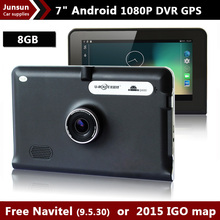 HD 7 inch Capacitive Screen Android 4.4 Car GPS Navigation DVR Recorder Camera  Tablet PC  FM/WIFI Built in 16GB Free Map