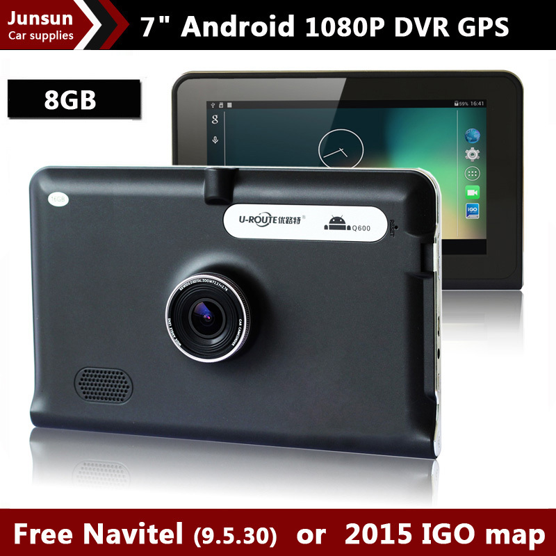 New 7 inch GPS Android Navigation Capacitive Screen Car DVR Recorder camcorder FM WIFI Truck vehicle gps Built in 8GB Free Map(China (Mainland))