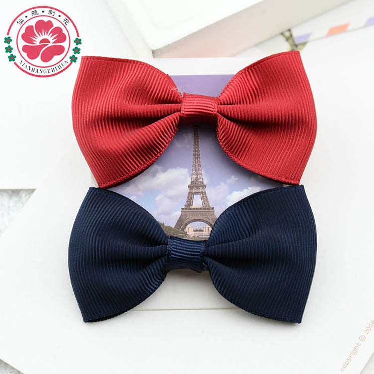 Hot sell 40pcs/lot Handmade grosgrain ribbon bow hair ...