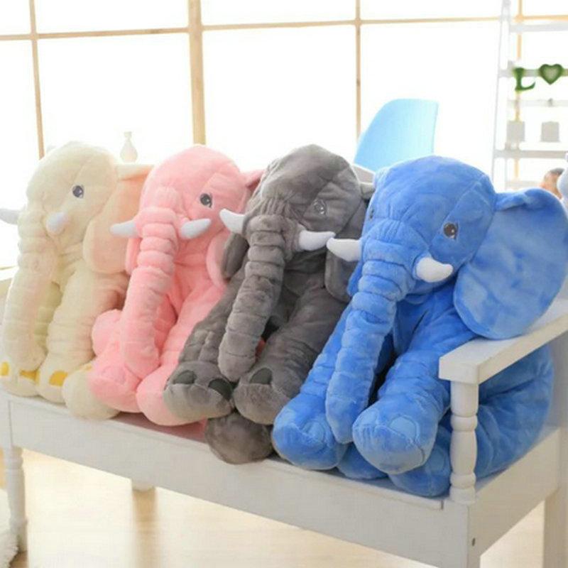 60 cm New Style Colorful Elephant Plush Toys Elephant pillow Baby bed Cushion stuffed animals ...