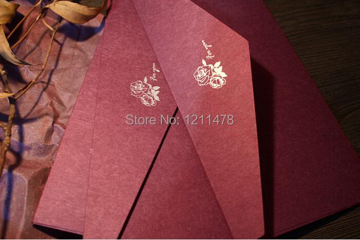 Elegant gold stamp kraft invitation envelope paper for birthday party and wedding invitation card vintage style(China (Mainland))