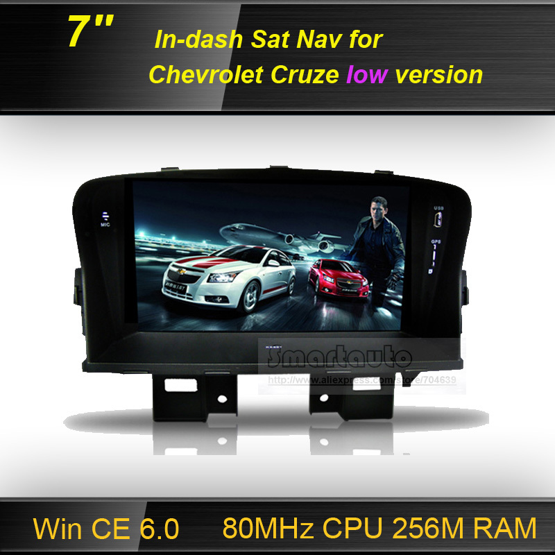 free shipping 7 inch Car GPS Navigation for Chevrolet cruze (2009-2013) low version, supports 1080P play, external microphone(China (Mainland))