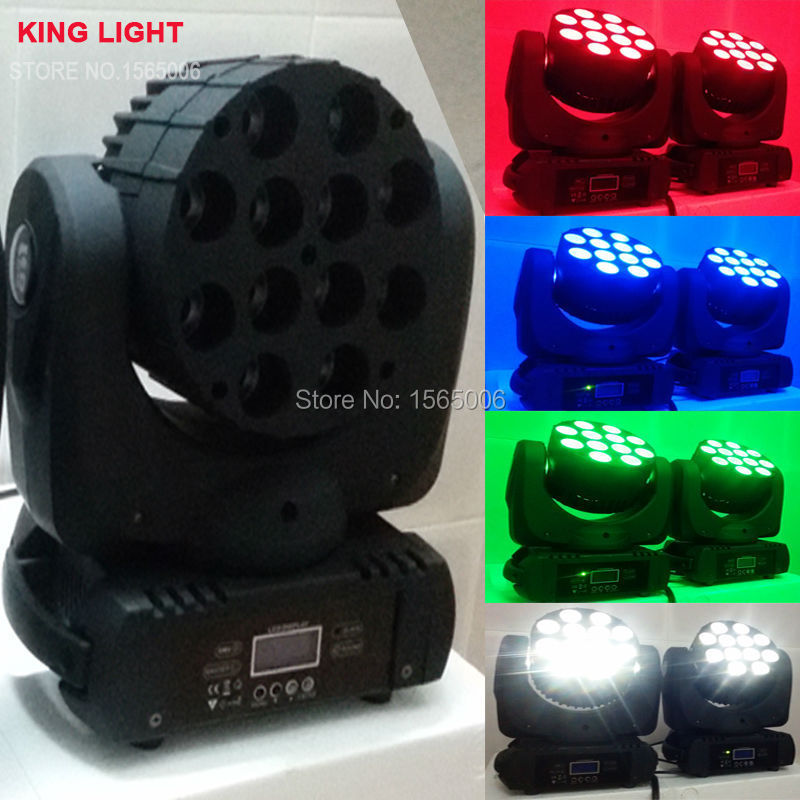 LED Beam Moving Head Light 12x 12W RGBW Quad LEDs With Excellent Pragrams 11/15 Channels Fast Shipping(China (Mainland))