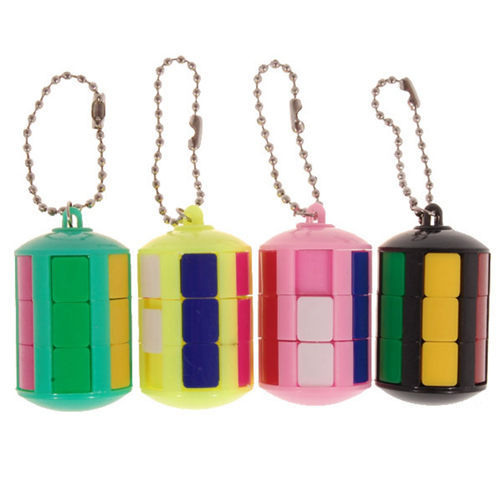 Brand New Smart Tower Magic Cube with Keychain Puzzle Educational Toys For Kids Children - Random Color(China (Mainland))