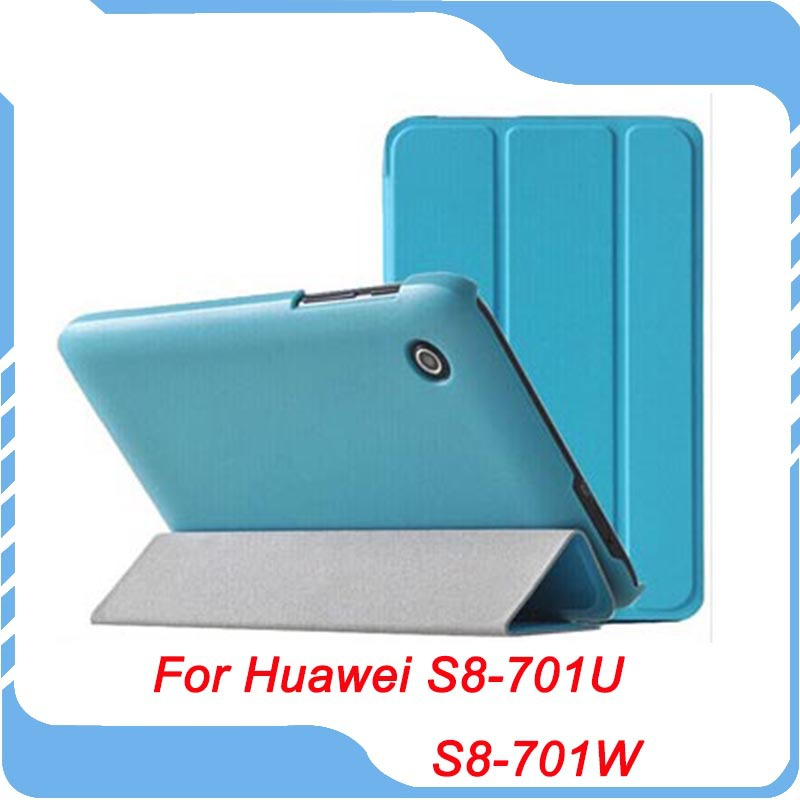 Ultra Slim Folio Leather Case Cover Stand 8 inch HuaWei MediaPad T1 8.0 S8-701U S8-701W Tablet - TH-Store store