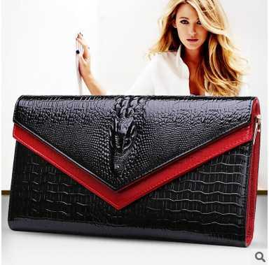 Фотография 2016 fashion Wallet Head layer cowhide leather handbag women