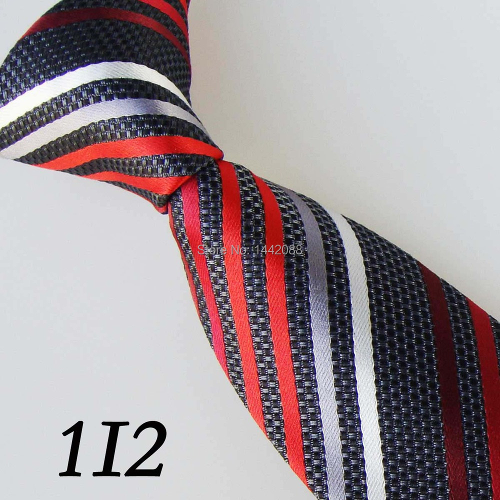 2015 Latest Style Grey/Red/White/Dark Red Tilted Striped Popular/Design /wedding party/casual dress /performance/Ties Men - xincai store