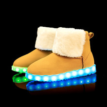 LED Shoes ugs woman snow boots high top shoes warm plush winter Light Luminous Superstar Leisure Casual Hot Fashion - LEDShoes Store store