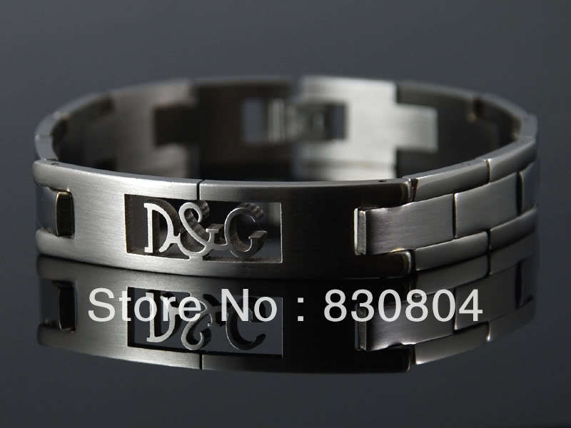 YYBR2011501 silver SHINY stainless steel MENS LADYS bracelet brand mens bangle chain fashion gift new - Online Store 830804 store