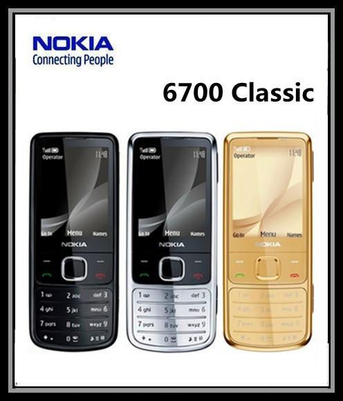 Original 6700C Cell Phone Unlocked Nokia 6700 Classic GSM 3G Gps Mobile Phone Russian Keyboard 5MP Camera Free Shipping(China (Mainland))