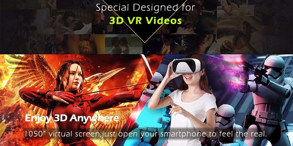 """ถูก นิวท์B Aofeng Mojing XD 3D VRแว่นตาหมวกกันน็อกความเป็นจริงเสมือนกล่องกระดาษแข็งสำหรับiPhone 6 6วินาทีบวกและA Ndroid 4.7-5.5 6 """"มาร์ทโฟน"""