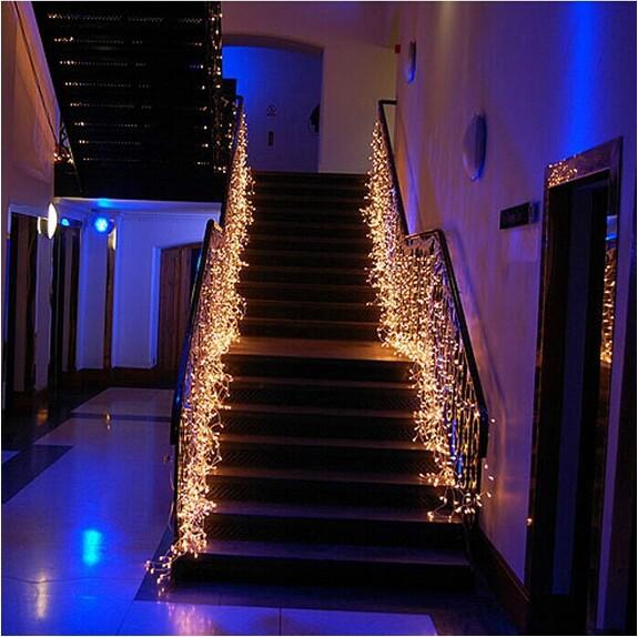 10m*0.55m 320LED light flashing lane LED String lamps curtain icicle Christmas festival lights 110v-220v EU UK US AU plug(China (Mainland))