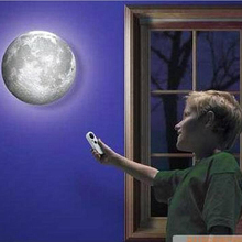 New Arrival Relaxing Healing Moon Light Indoor LED Wall Moon Lamp With Remote Control Novelty Lamp Retailsale High Quality(China (Mainland))