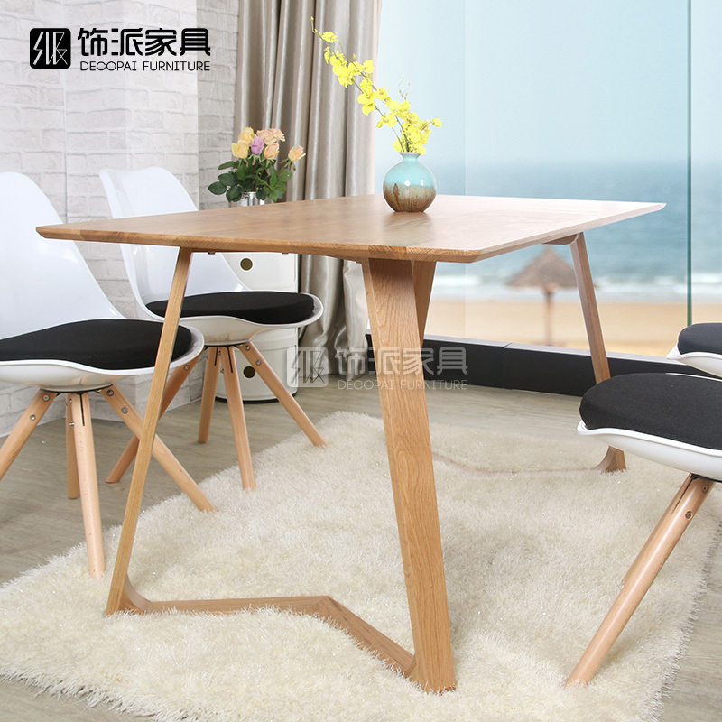 Nordic ikea oak dinette combination of simple and stylish for Simple wood dining table