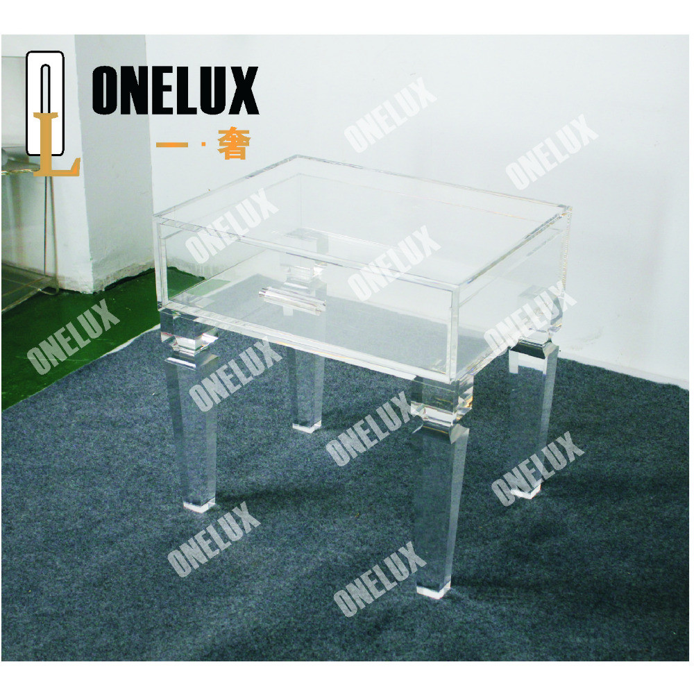 ONE LUX Rectangular acrylic coffee table,CLear Lucite Plexiglass Cocktail Tea tables V legs 2021610110