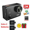 Free Shipping Gitup Git2 Novatek 96660 1080P WiFi 2K Outdoor Sports Action Camera Extra 2pcs 950mAh