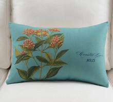 Crown Flower Cotton Linen  Pillowcase Cushion